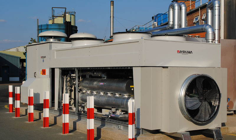UK First : Low ammonia charge installation