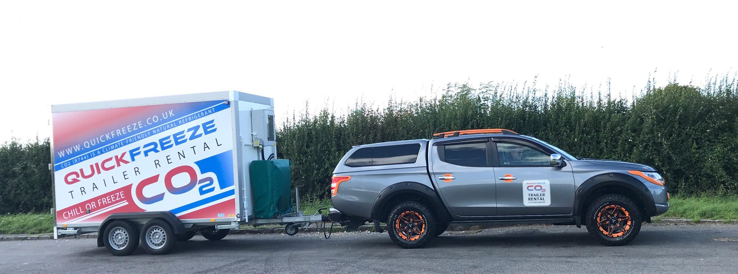 Quickfreeze smaller trailer and car