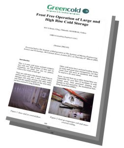 Greencold Frost Free Operation of Coldstores PDF Article