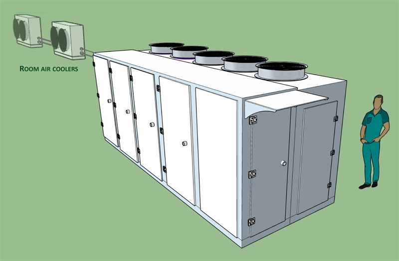 CO2 Direct Expansion Condensing units for chilling or freezing