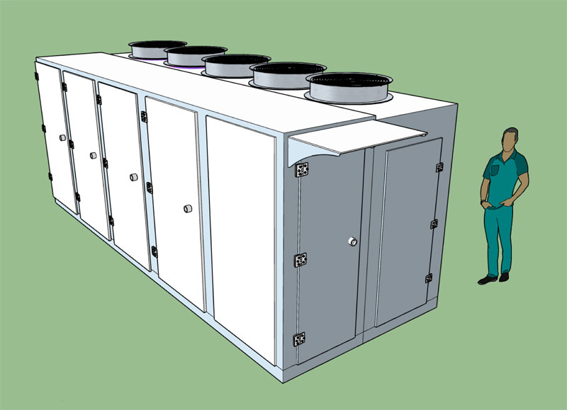 Compact footprint CO2 Glycol and Water Chillers